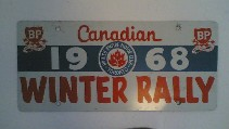 Canadian Winter Rally 1968